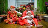 Ritual de batismo de novas crianças do axé